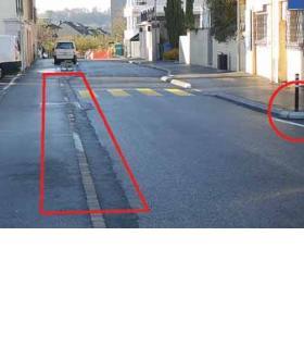 L'absence de marquage au bas du chemin de Vuichardaz serait dangereux pour les piétons.dr