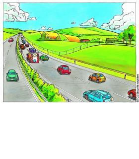 Les piétons peuvent traverser la chaussée n'importe où dans une zone limitée à 30 km/h s'il n'y a pas de passage peint, mais sans priorité. DR