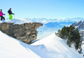 Depuis les Violettes, Crans-Montana offre un panorama exceptionnel.