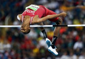 Le Qatari Mutaz Essa Barshim, triple champion du monde et deux fois médaillé d'argent olympique, sera présent à la Pontaise. OLYMPICS.ORG