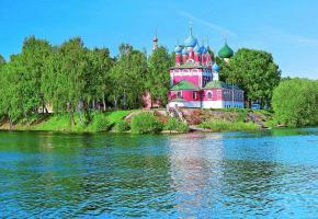 Située le long de la Volga, l'église majestueuse de Saint-Dimitri-sur-le-Sang-Versé fascine tous les visiteurs de passage. DR