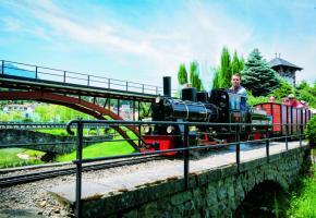 Deux kilomètres de circuits, notamment agrémentés de huit ponts et autant de tunnels. On s'y croirait… Les familles sont la première clientèle  du Swiss Vapeur Parc.