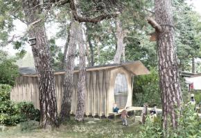 Une maisonnette de 40m2, non loin de l'île, pour mieux comprendre les oiseaux migrateurs. dr