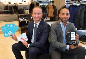 Filippo Botticini et Tomé Varela, respectivement président et secrétaire général de la Société coopérative des commerçants lausannois. VERISSIMO