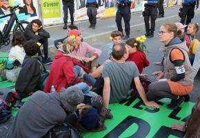 Depuis quelques mois, Extinction Rebellion multiplie les actions  à Lausanne. DR
