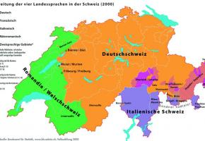 Les habitants de la Suisse romande parlaient différentes variantes de francoprovençal. DR