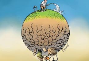 Chappatte et sa manière d'illustrer l'urgence climatique.