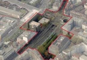 Le périmètre qui sera étudié au niveau de la Place Chauderon. DR