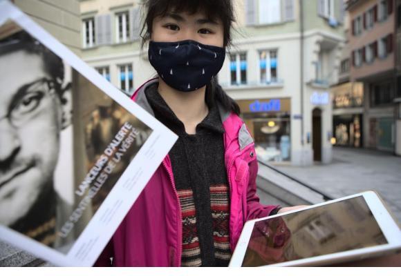 La jeune activiste chinoise Howey Ou compte poursuivre son combat. MISSON