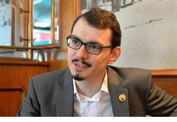 A 26 ans,Valentin Christe préside le Conseil communal depuis six mois. verissimo