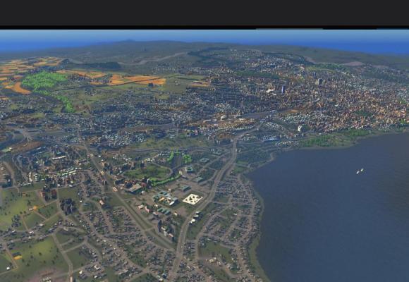 Lausanne, modifiable à souhait par les utilisateurs de «Cities: Skylines». DR