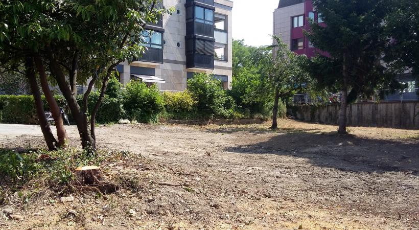 L'actuel terrain vide sis au 9 chemin de la Tour va être réaménagé pendant l'été. DR