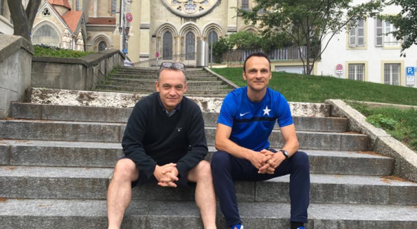 De gauche à droite: David Clément, président du FC Concordia et Renato Dalla Palma, président du comité d'organisation