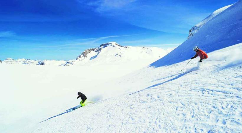 Le ski en grand à La Plaine Morte.