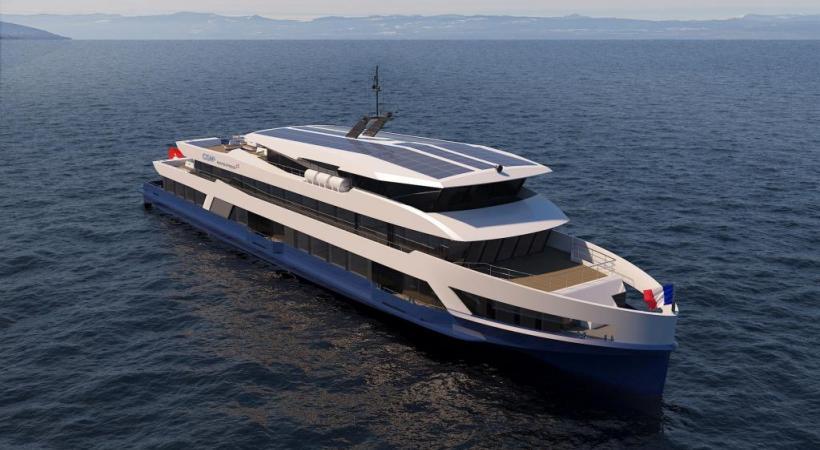 Assemblés à Ouchy, les 2 navires, identiques, consommeront 40% de moins d'énergie que les bateaux actuels. DR