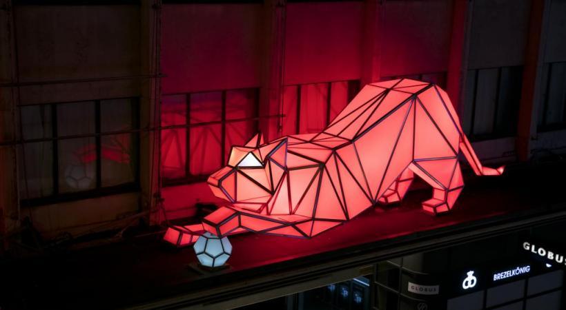«Digital origami tigers», Lava, Globus. dr