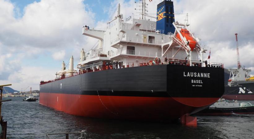 """Le """"Lausanne"""", 60'000 tonnes, est le dernier fleuron de la marine suisse. DR"""