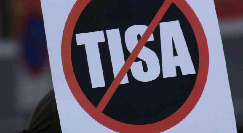 De nombreuses villes et communes suisses, à l'instar de celle du Mont-sur-Lausanne aujourd'hui, mènent le combat contre TiSA. DR