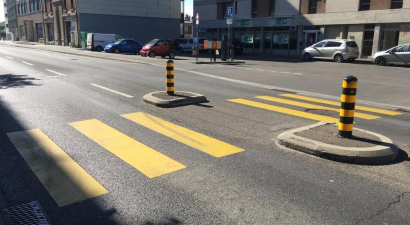 Plus de 700 passages piétons à Lausanne ne sont pas régulés par des feux rouges. DR