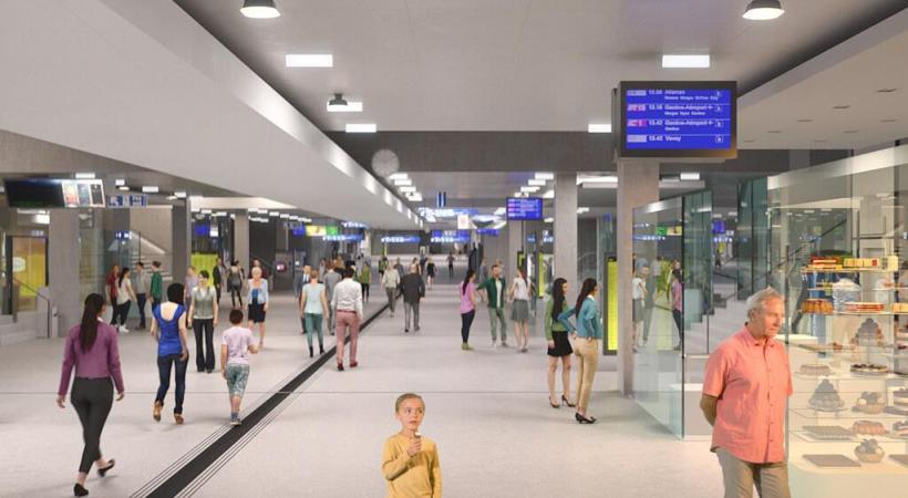 La future gare de Lausanne sera un véritable hub de mobilité. CFF