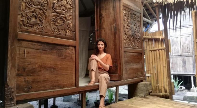 Marisol et son compagnon ont élu domicile dans un petit village proche de la ville de Yogyakarta. DR