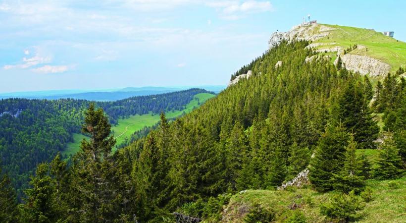 Depuis le sommet, un large panorama sur la Suisse et la France récompense les efforts. DR