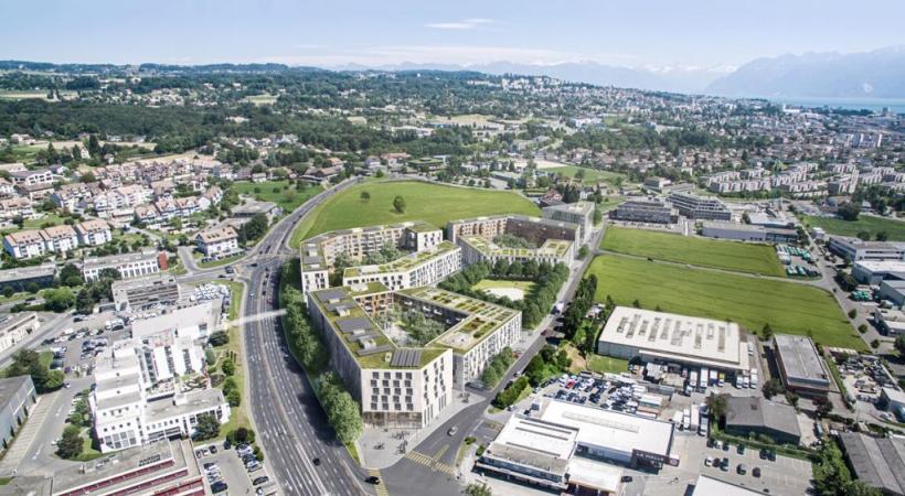 Oassis ou l'éclosion d'un nouvel espace de vie aux portes de Lausanne, au cœur de la commune de Crissier. PHK/DR